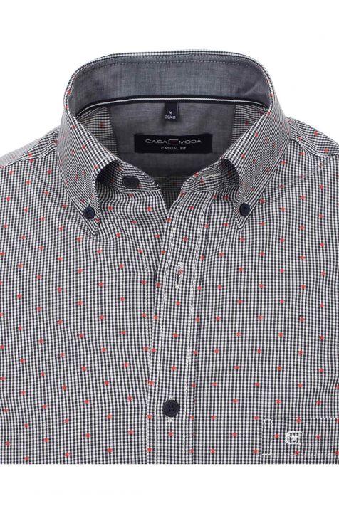 Camicia Casamoda Classic  Fantasia 100% cotone collo Button down Manica lunga