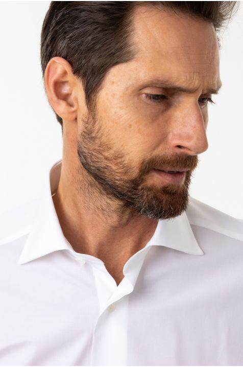 Camicia Guglielminotti Slim  Tinta unita 97% cotone 3% elastan collo Francese Manica lunga