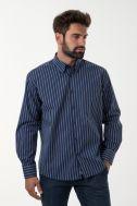 Camicia Nologo Classic Righe 100% cotone collo Button down Manica lunga