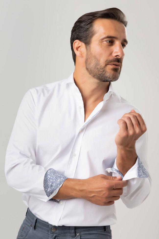 Camicia Xacus Classic  Tinta unita 100% cotone collo Francese Manica lunga