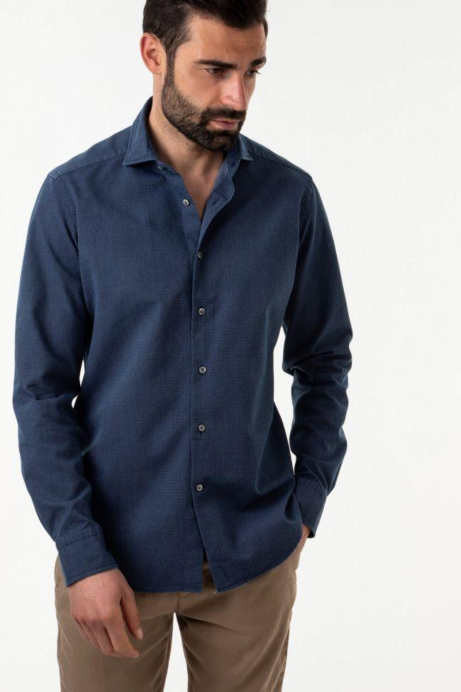 Camicia Bagutta Regular  Tinta unita 100% cotone collo Francese Manica lunga