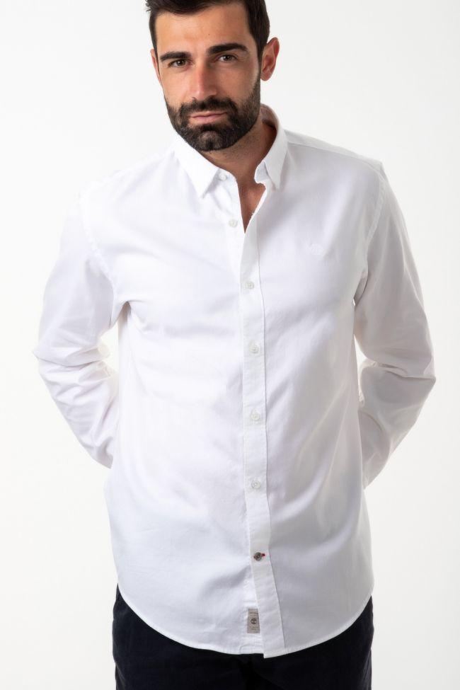 Camicia Timberland Slim  Tinta unita 100% cotone collo Italiano Manica lunga