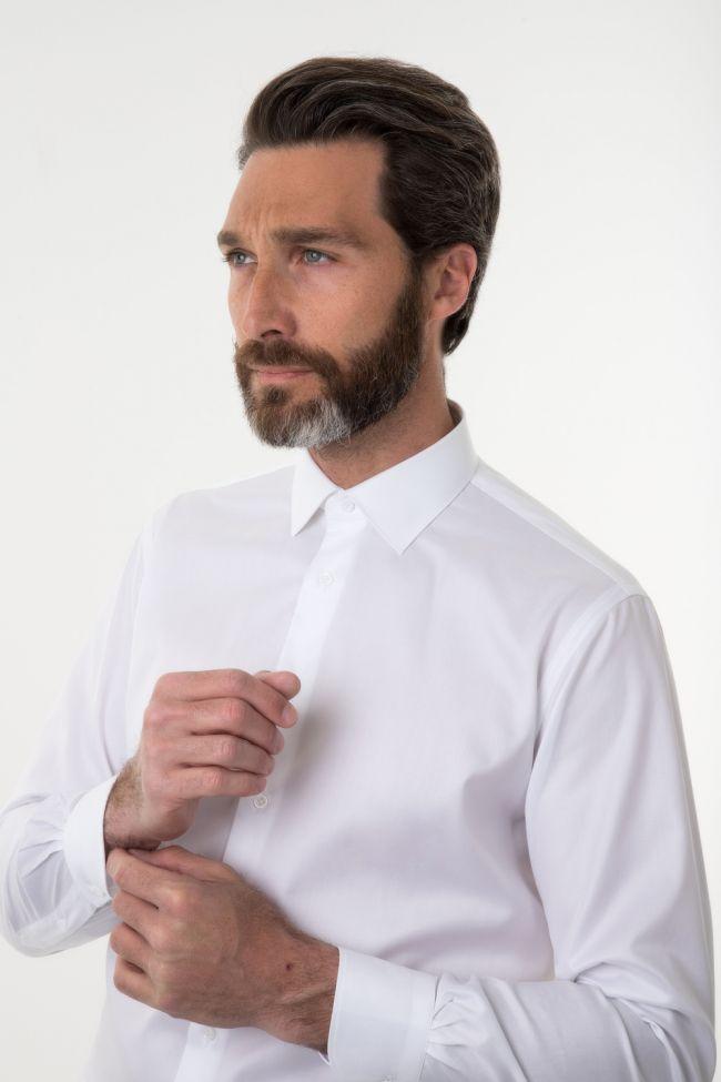 Camicia Carrel Classic  Tinta unita 100% cotone collo Italiano Manica lunga
